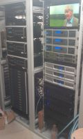 Equipment racks featuring the Atlona Video and Cloud Audio control systems